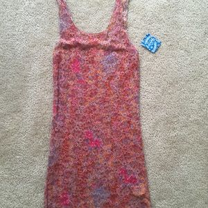 Free People Intimately stretchy lace pink tank top